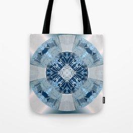 Microchip Mandala in Blue Tote Bag