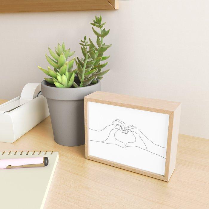 Hand Heart Framed Mini Art Print