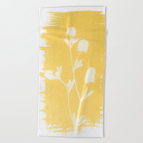 Herbal Sunprint #6 Beach Towel
