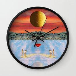 Eyes, lips & dreams Wall Clock