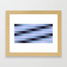 Black Blue and Purple Weave Pattern Framed Art Print
