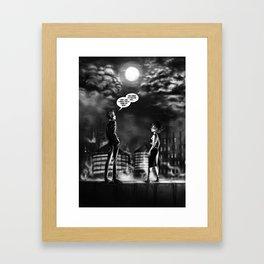 """""""Little"""" Bruce & """"Baby"""" Selina Framed Art Print"""