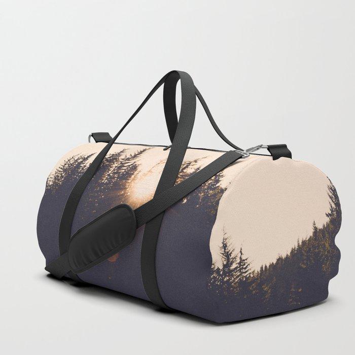 Wooded Lake Reflection  - Nature Photography Duffle Bag