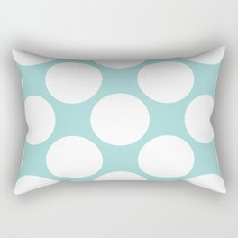 Polka Dots Blue Rectangular Pillow