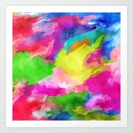 Watercolor Ink Abstract Art Print