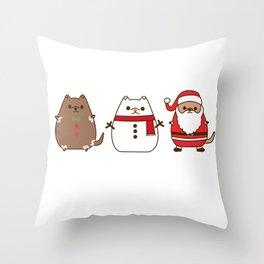 Cute Christmas Pupsheens Throw Pillow