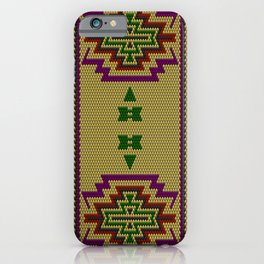 Latino American ethnic ornament, pattern, mosaic, embroidery. iPhone Case