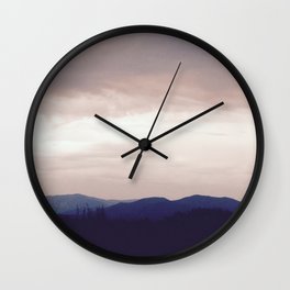 Misty Mountains Cold Wall Clock