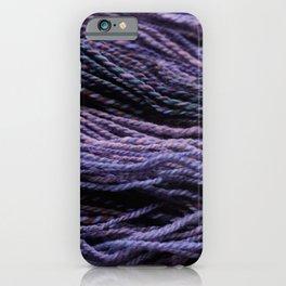 Purple Handpun Yarn Colorful iPhone Case