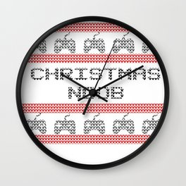 Christmas Gaming - Ugly Sweater Style Wall Clock