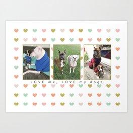 RJ & Lexie Shenaigans (Heart) Art Print