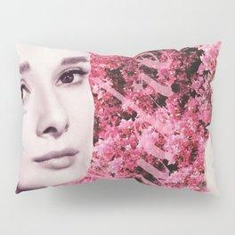 Audrey Hepburn Pink Collage Pillow Sham