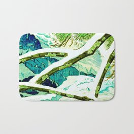 The Winter Green Bath Mat