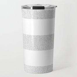 Simply Striped Moonlight Silver Travel Mug
