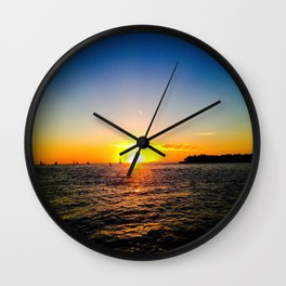 Toast to the Sunset Wall Clock