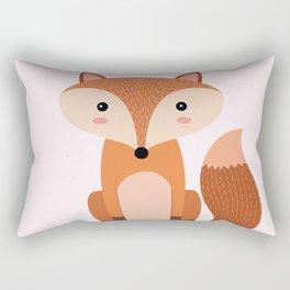 Fox art print Rectangular Pillow
