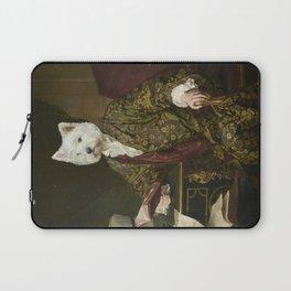 Portrait of a civilized Westie Laptop Sleeve