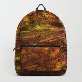 The Golden Autumn Campground (Color) Backpack