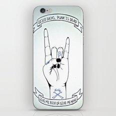 Dirty - Disco Sucks, Punk is Dead iPhone & iPod Skin