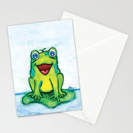 Happy Frog - Watercolor Stationery Cards