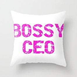 Entreprenuer Bossy CEO Pink Lady Boss Throw Pillow