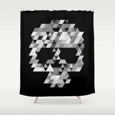Skull bw Shower Curtain