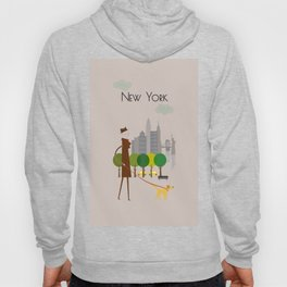 New York - In the City - Retro Travel Poster Design Hoody