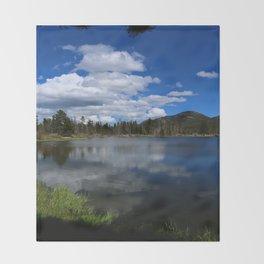 Sprague Lake Reflection Throw Blanket