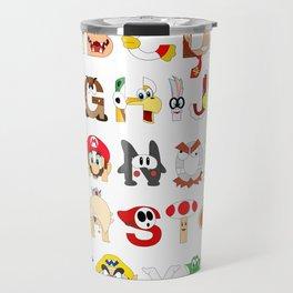 Super Mario Alphabet Travel Mug