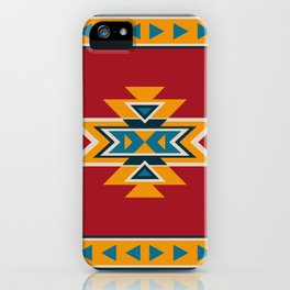 Aztec Pattern on Red iPhone Case