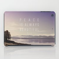 peace iPad Cases featuring Peace by Leah Flores