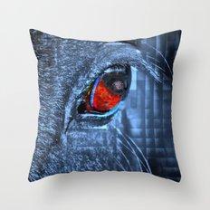 Horse vision Throw Pillow