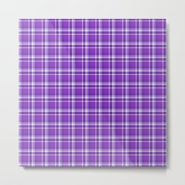 Blurple Plaid Metal Print