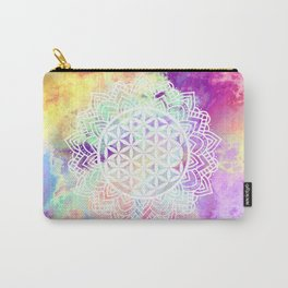 Flower Of Life (Batik 13) Carry-All Pouch