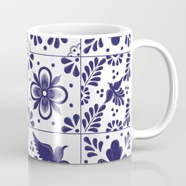 Mexican Talavera Tiles Heart Coffee Mug