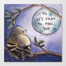 Bird no. 443: Listen to the Moon Canvas Print