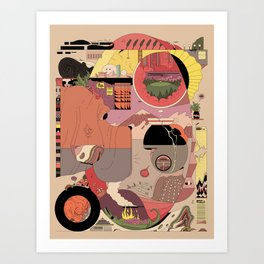 Ellipse Art Print