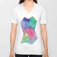 tie dye V-neck T-shirts featuring Tie dye by Bridget Davidson