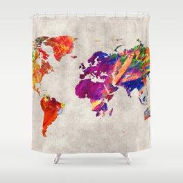 World Map 50 Shower Curtain