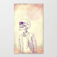 gentleman Canvas Prints featuring Gentleman by Mike Koubou