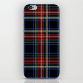 Minimalist Black Stewart Tartan iPhone Skin