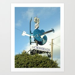 Down at The Crossroads. Clarksdale, MS Art Print