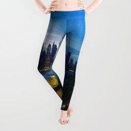 New York City as viewed from the Beautiful Brooklyn Heights Leggings