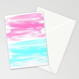 Summer Brushstrokes painting boho modern minimal abstract neon painting cool beach socal vibe Stationery Cards