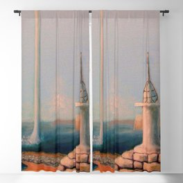 Water Funnel under Blue Skies (Africa, Bay of Luanda) Blackout Curtain