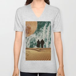 I LOVE YOU TO THE MOON AND BACK #society6 Unisex V-Neck