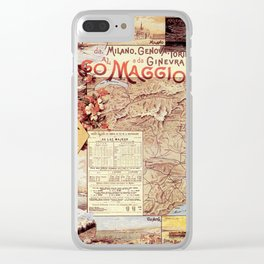 Vintage poster - Lago Maggiore Clear iPhone Case