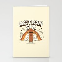 amy sia Stationery Cards featuring Action Sia by Farid L