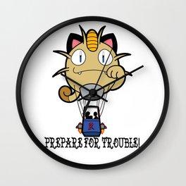 Prepare For Trouble! Wall Clock