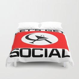 Let's Get Social Duvet Cover